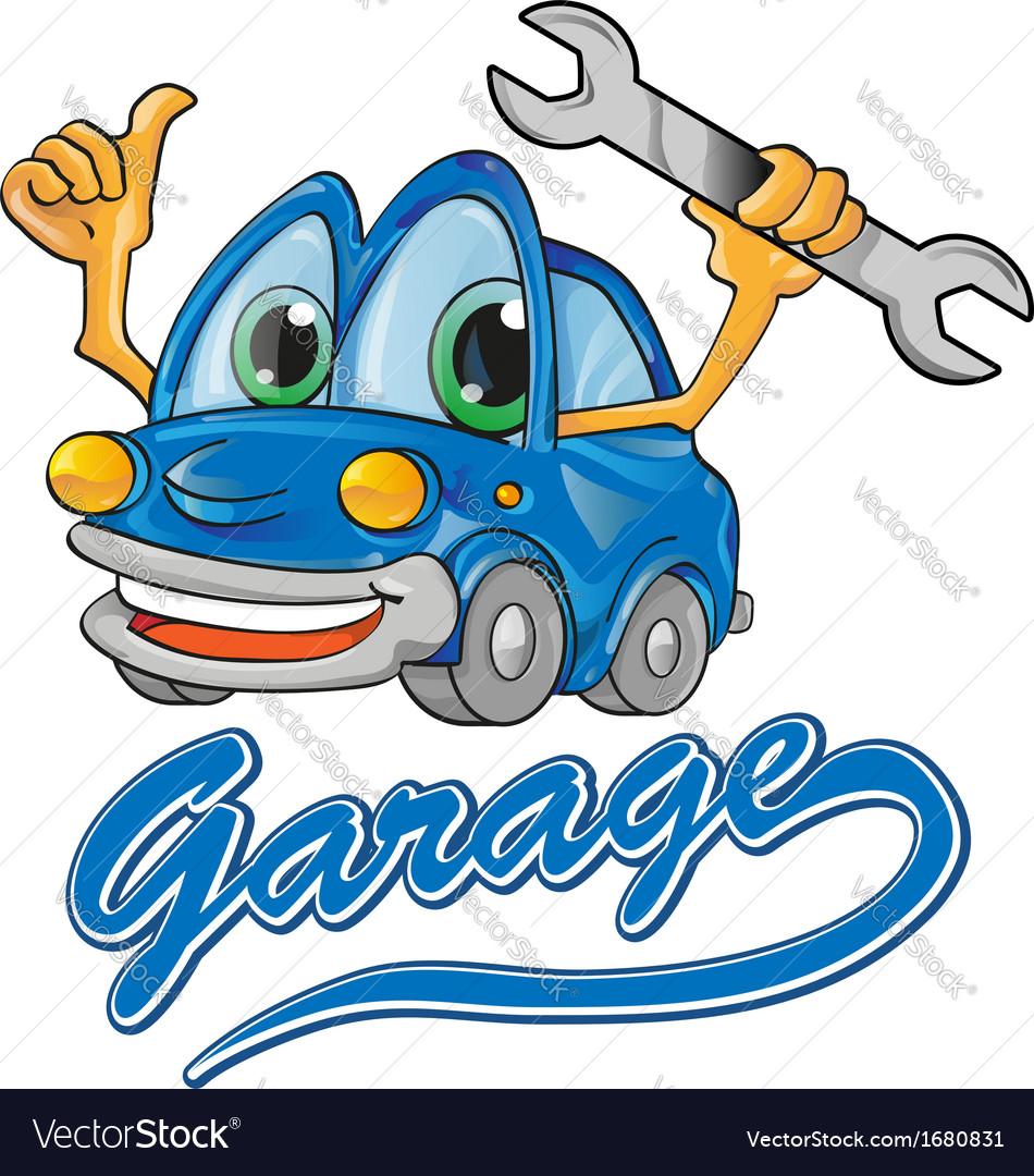 Car garage vector | Price: 1 Credit (USD $1)