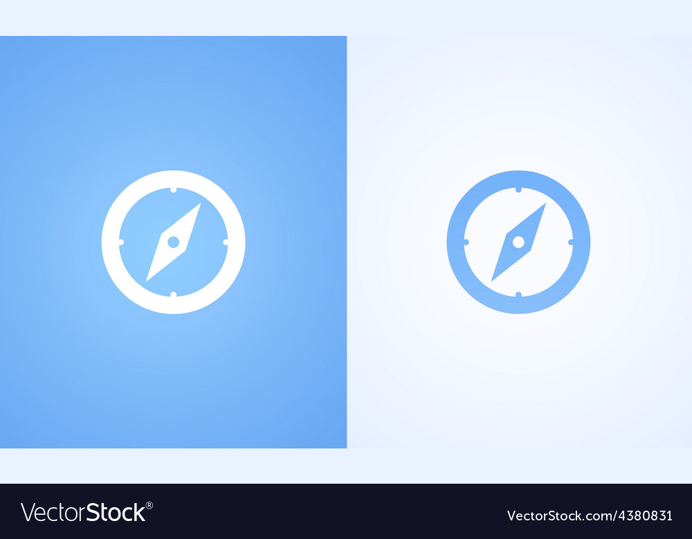 Compass on blue and white background vector | Price: 1 Credit (USD $1)