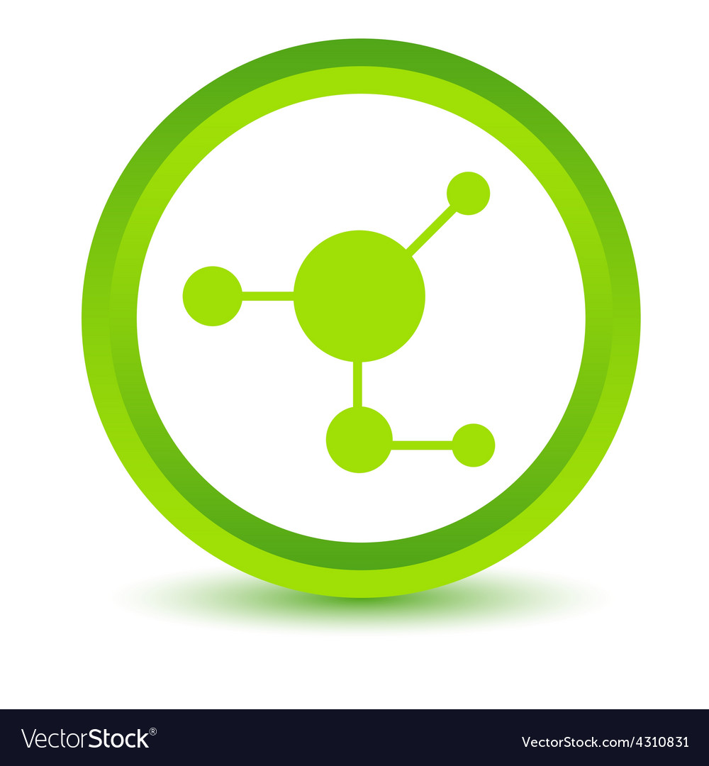 Green atom icon vector | Price: 1 Credit (USD $1)