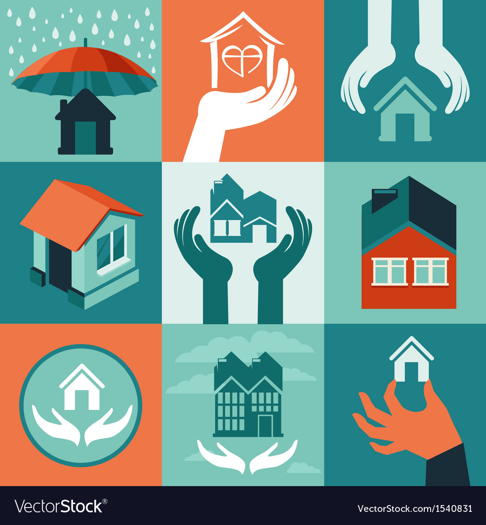 House insurance vector | Price: 1 Credit (USD $1)
