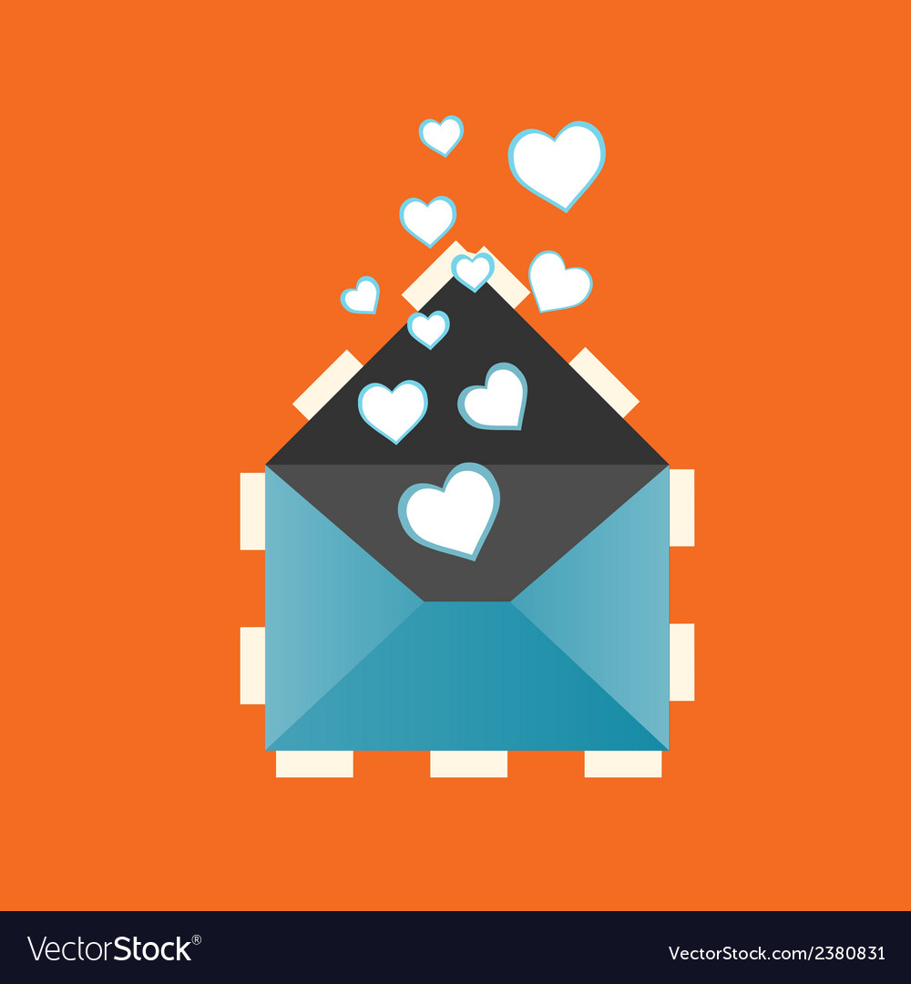 Icon love heart letter eps vector | Price: 1 Credit (USD $1)