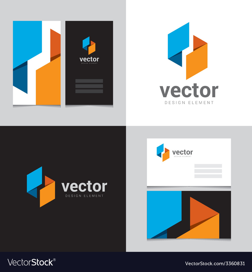 Logo design element with two business cards - 10 vector | Price: 1 Credit (USD $1)