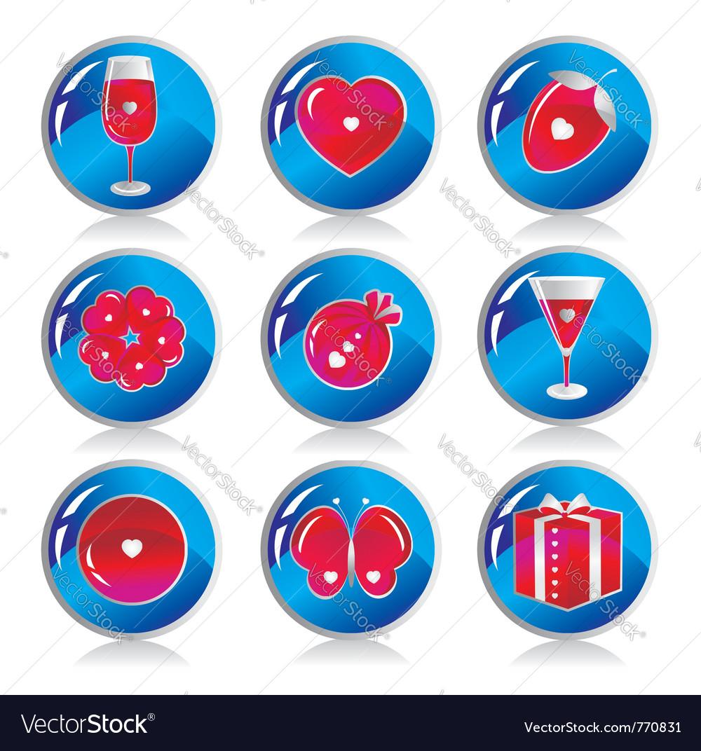 Love symbols vector | Price: 1 Credit (USD $1)