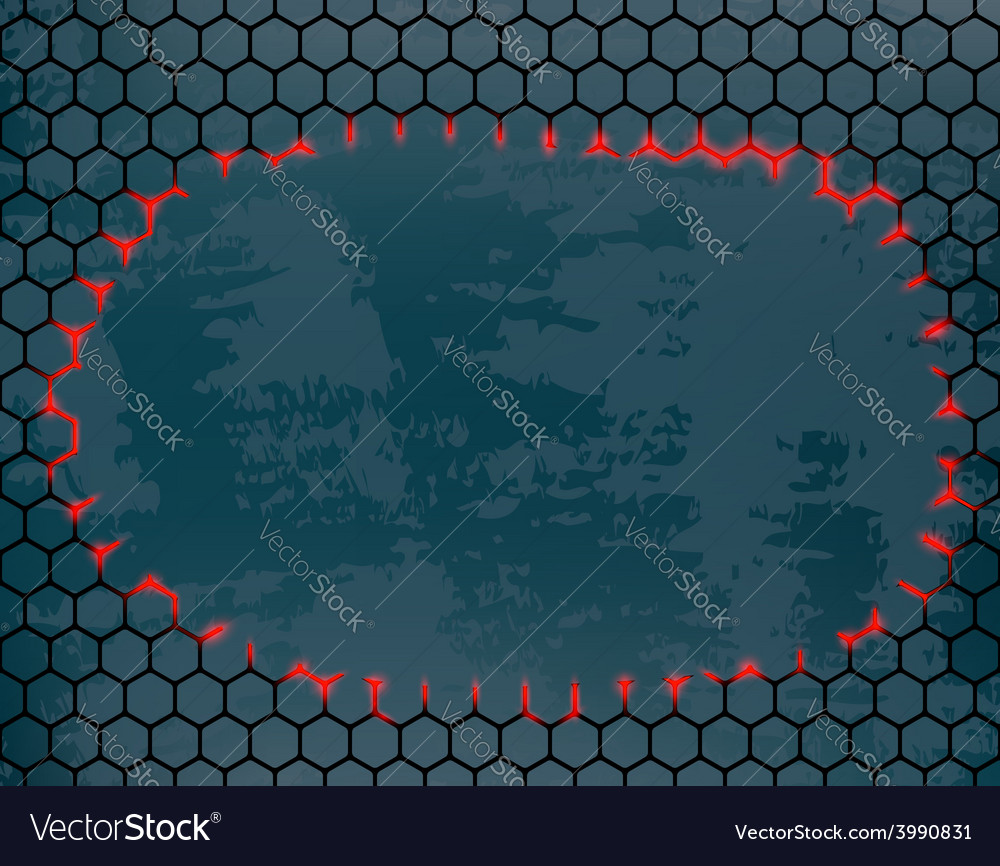 Metal grid with a hole in the middle vector | Price: 1 Credit (USD $1)
