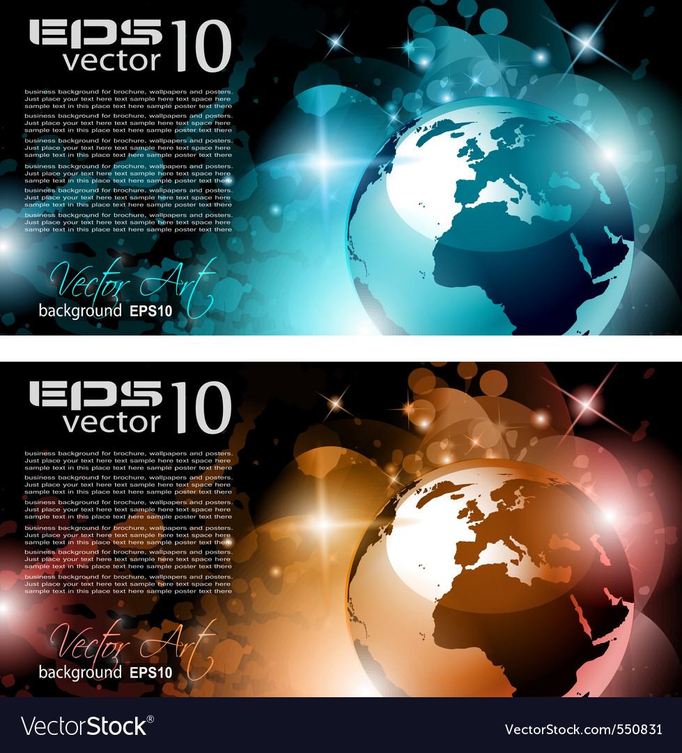 Modern globe background vector | Price: 1 Credit (USD $1)