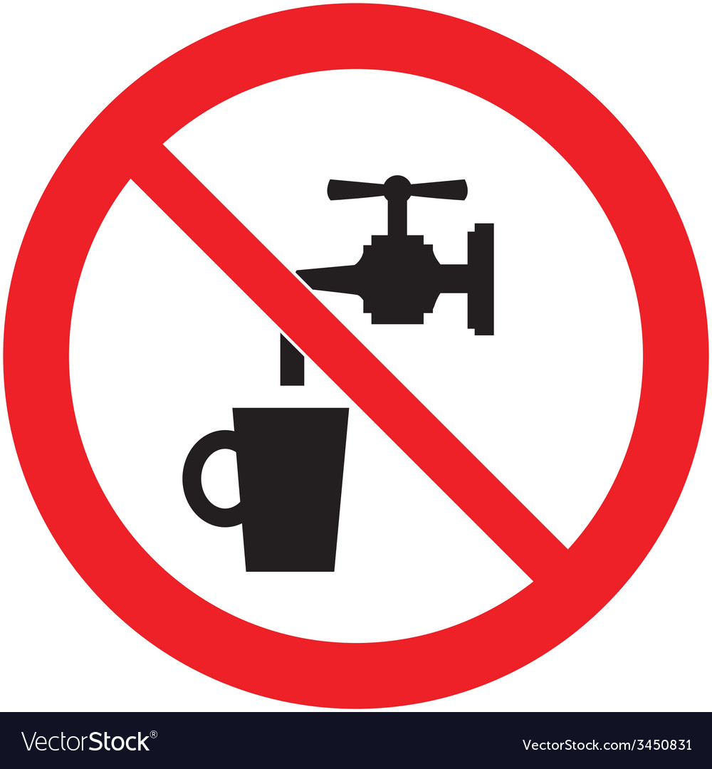 Non drinking water safety sign vector | Price: 1 Credit (USD $1)