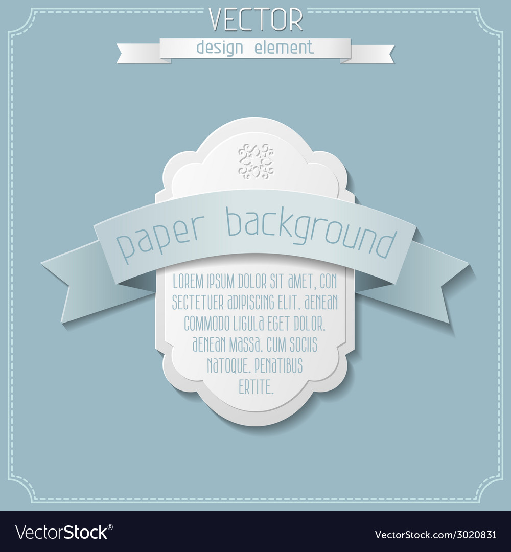 Paper vintage design vector | Price: 1 Credit (USD $1)