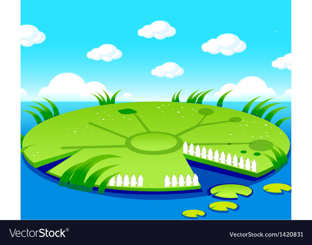 Pond background vector | Price: 1 Credit (USD $1)