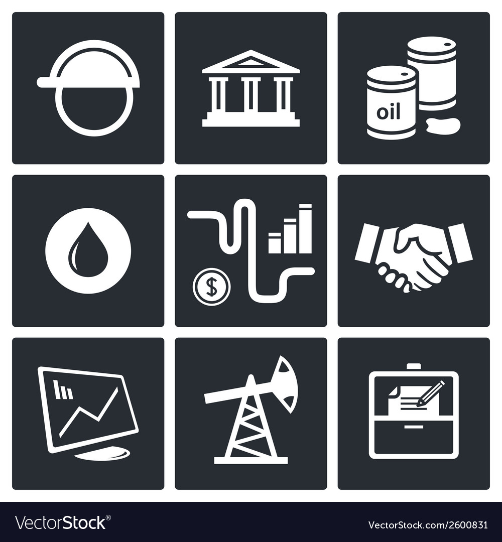Sale of petroleum products icon collection vector | Price: 1 Credit (USD $1)