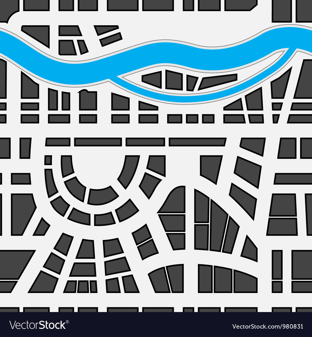 Seamless background of city map vector | Price: 1 Credit (USD $1)