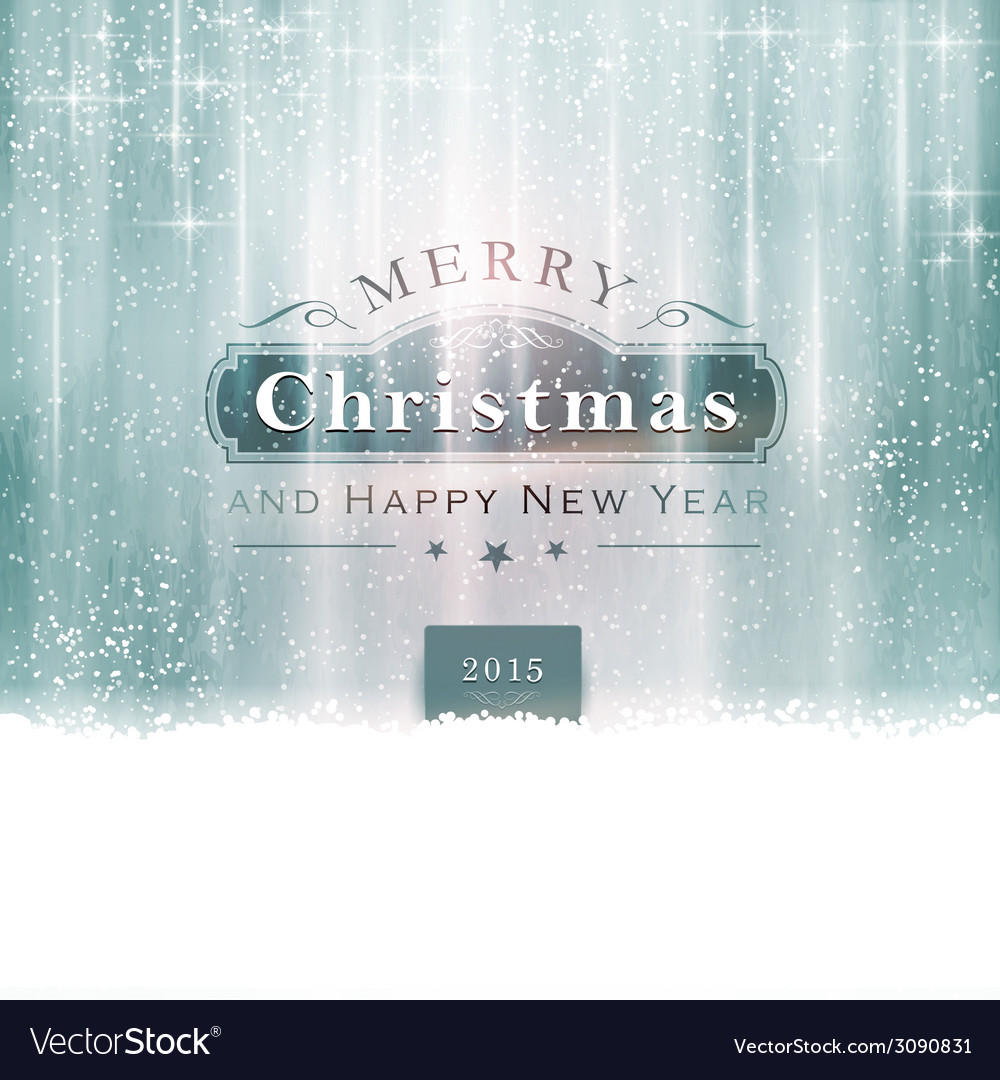 Silver blue christmas typography vector | Price: 1 Credit (USD $1)