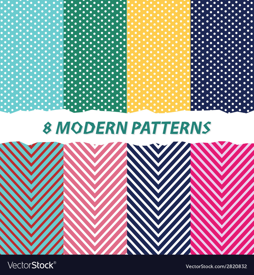 8 modern patterns background vector | Price: 1 Credit (USD $1)
