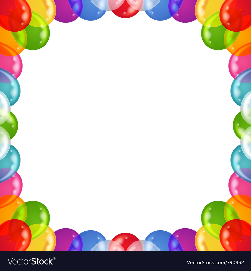 Background balloons frame vector | Price: 1 Credit (USD $1)