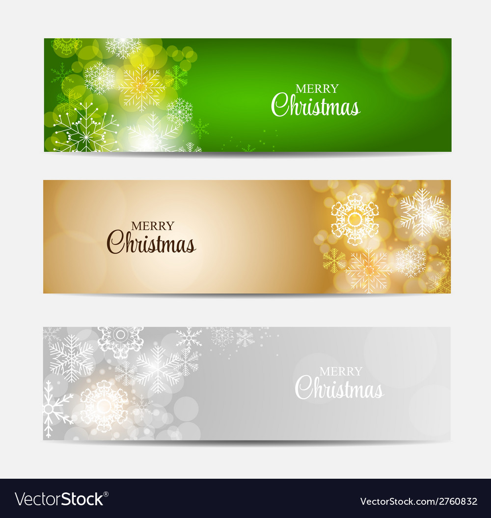Christmas snowflakes website header and banner set vector | Price: 1 Credit (USD $1)