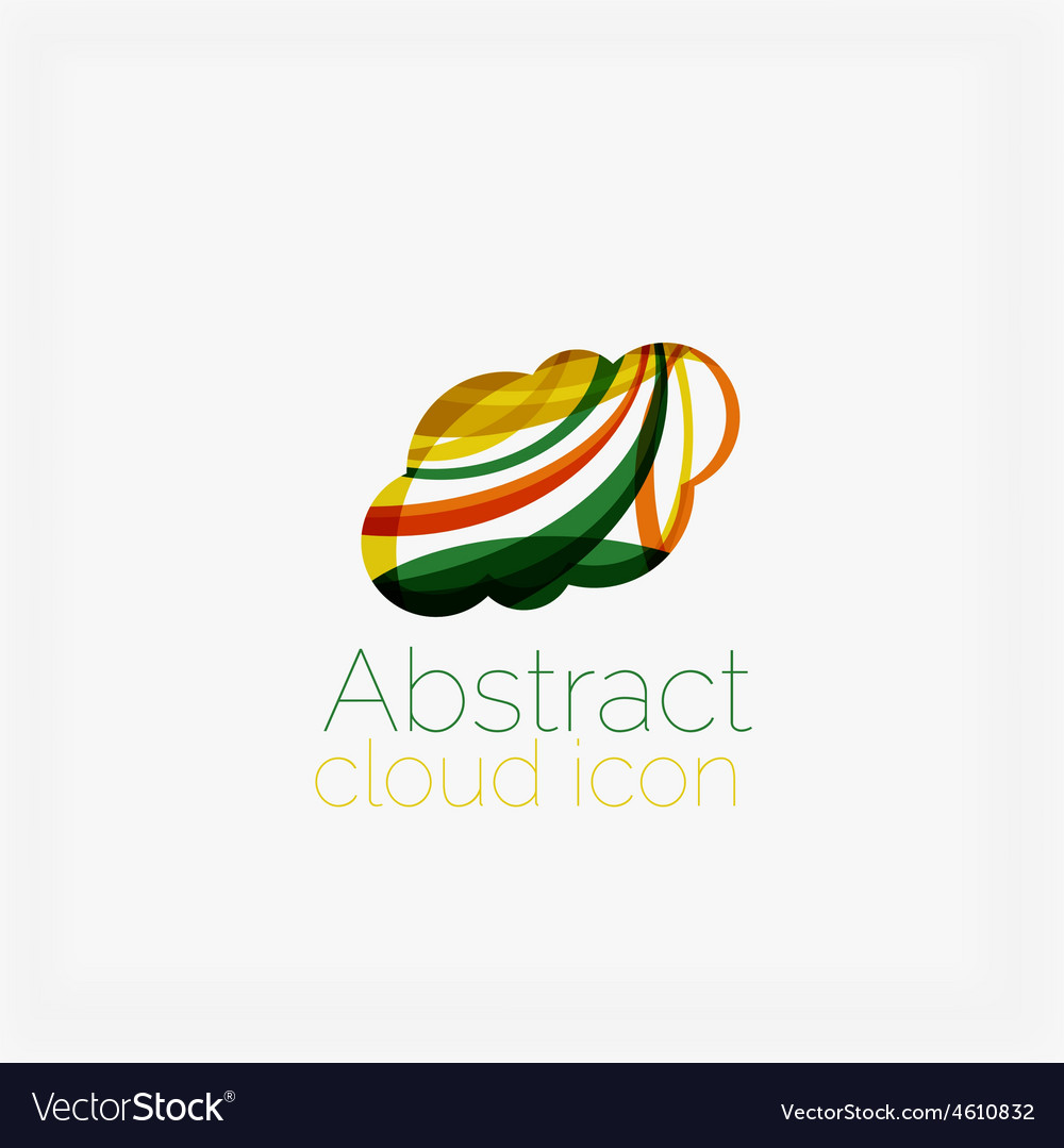 Clean elegant circle shaped abstract geometric vector | Price: 1 Credit (USD $1)