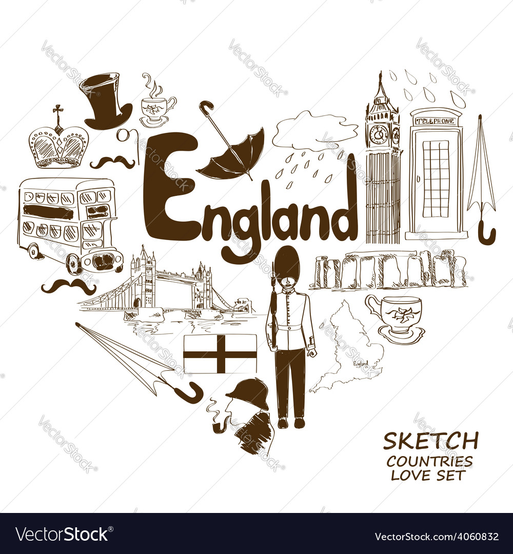 English symbols in heart shape concept vector | Price: 1 Credit (USD $1)