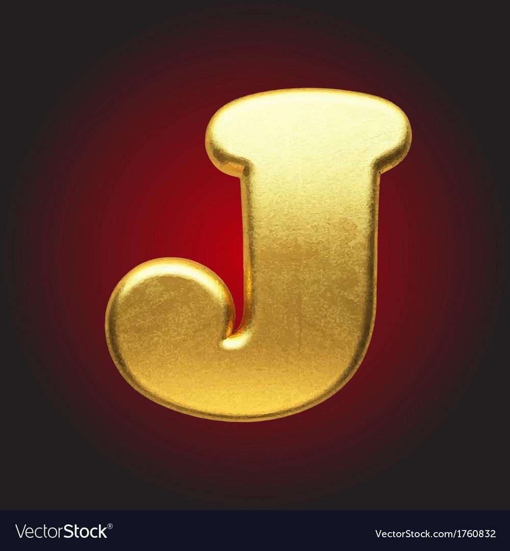 Golden letter vector | Price: 1 Credit (USD $1)