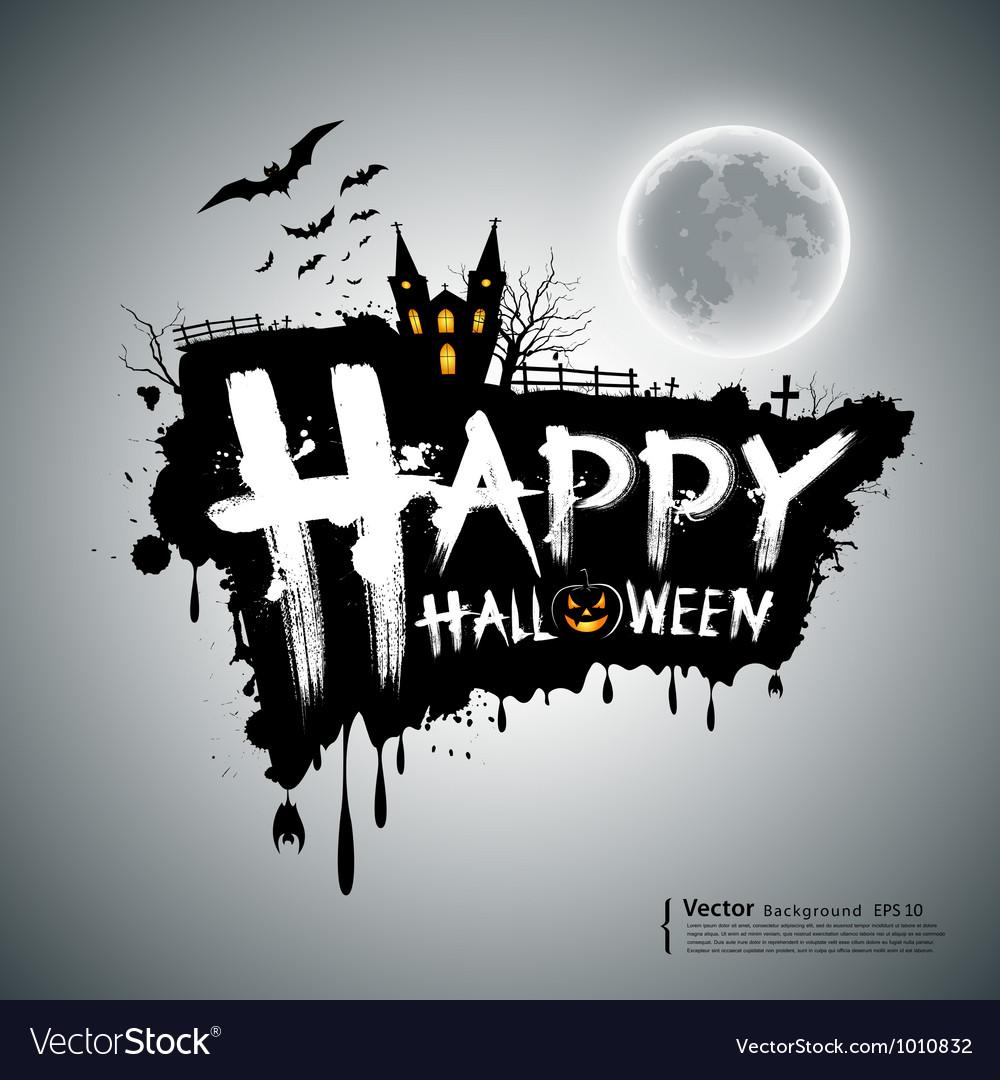 Happy halloween message design vector | Price: 1 Credit (USD $1)