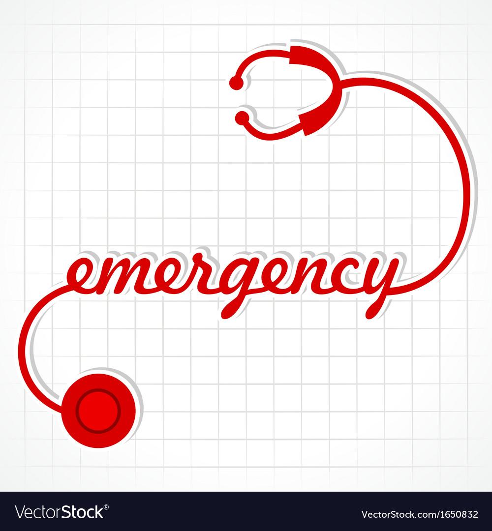 Stethoscope make emergency word vector   Price: 1 Credit (USD $1)