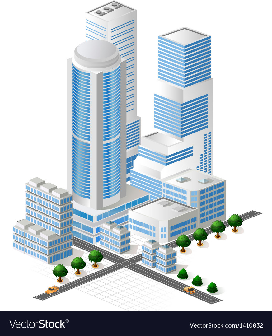 Tall buildings vector | Price: 1 Credit (USD $1)