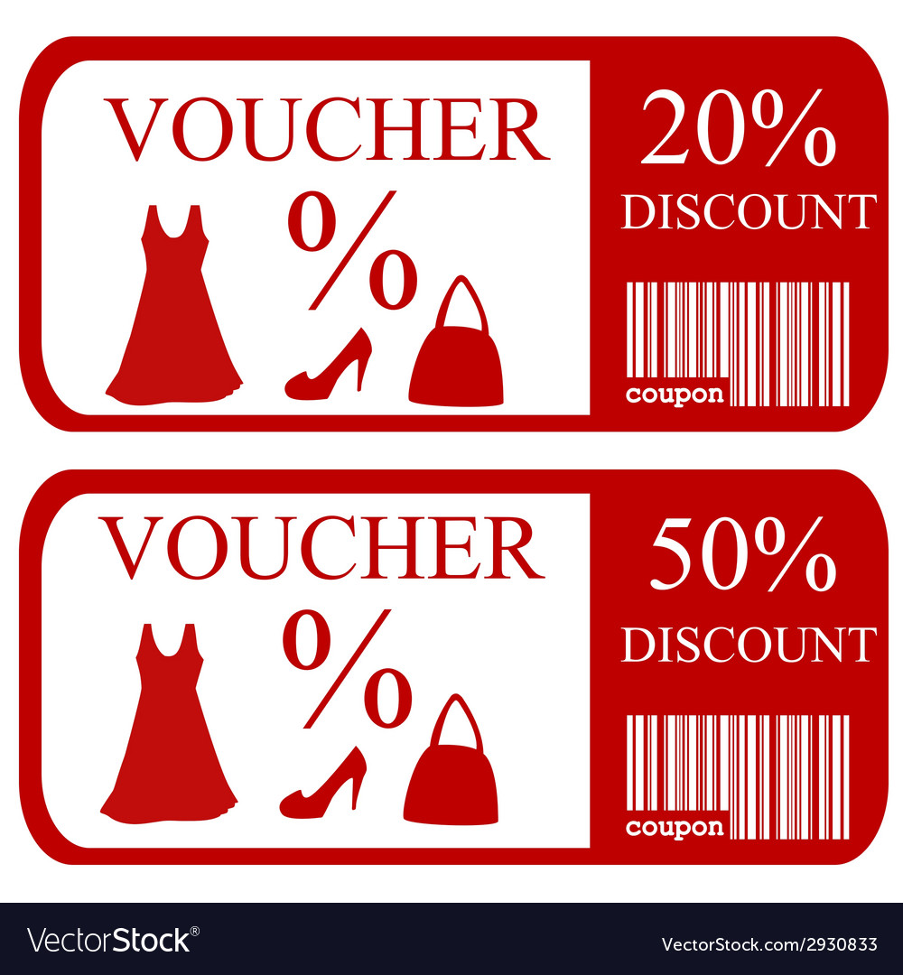 20 and 50 discount vouchers vector | Price: 1 Credit (USD $1)