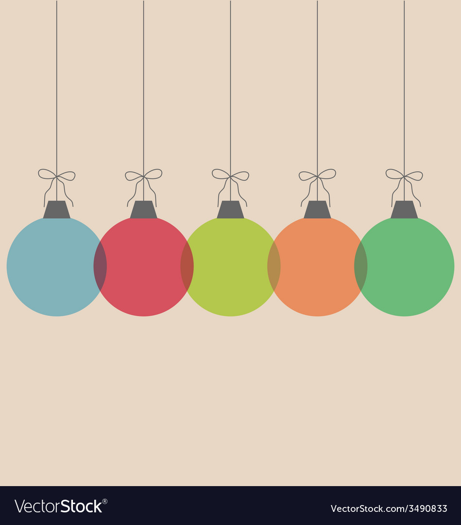Christmas balls isolated on beige vector | Price: 1 Credit (USD $1)