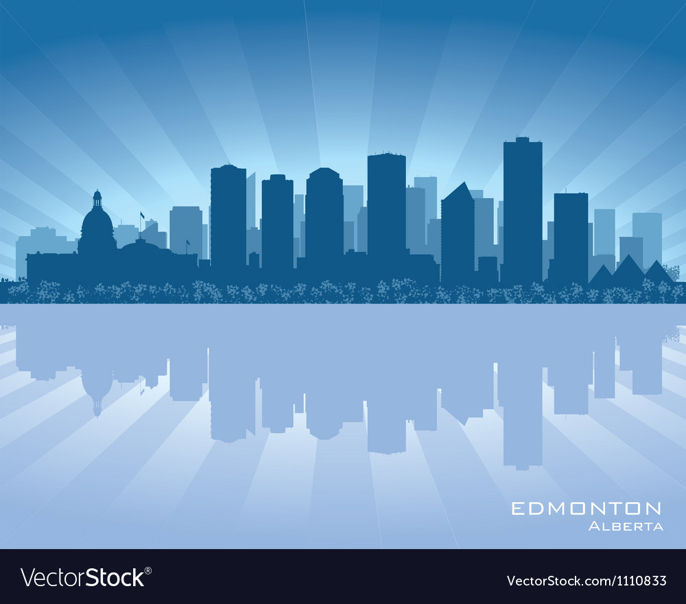 Edmonton canada skyline vector | Price: 1 Credit (USD $1)