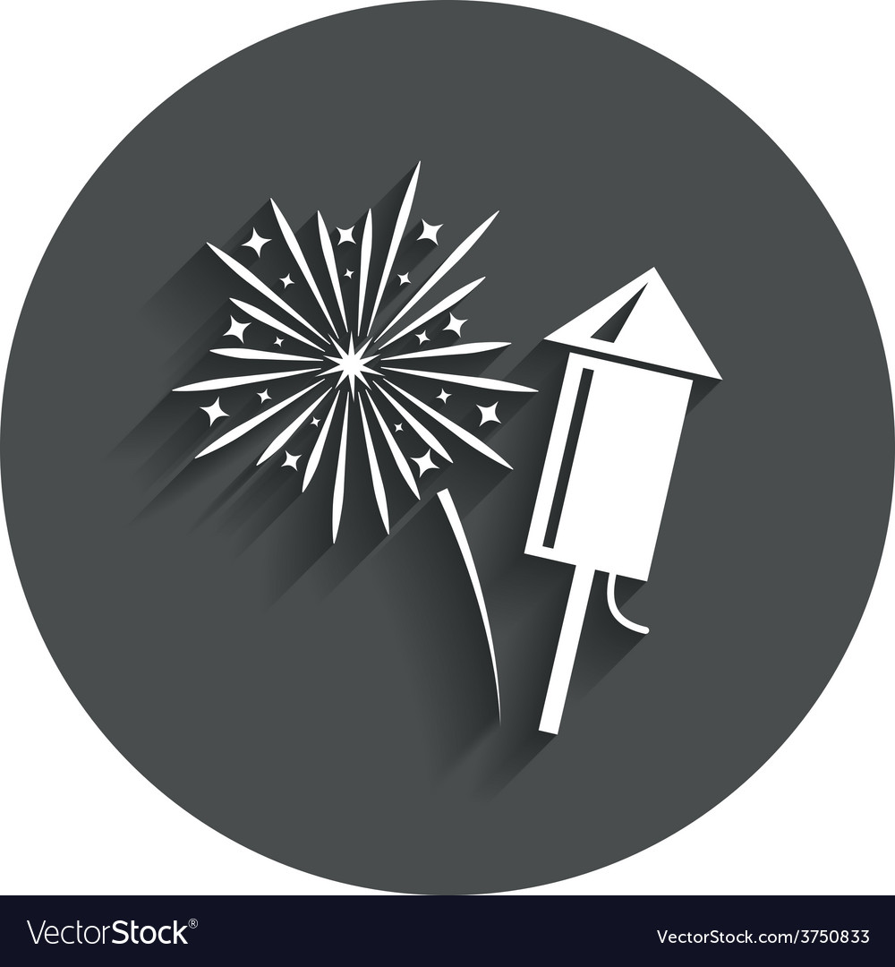 Fireworks sign icon explosive pyrotechnic show vector | Price: 1 Credit (USD $1)