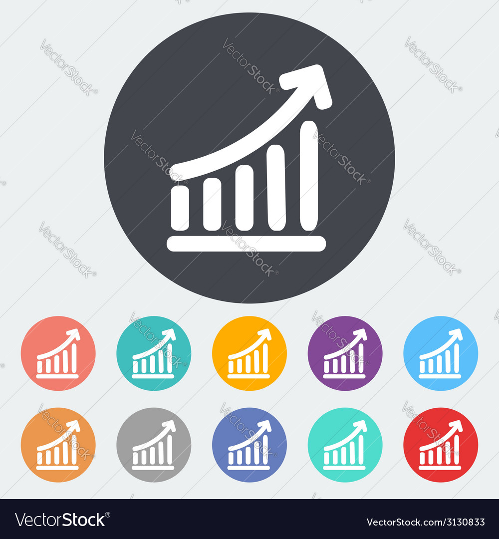 Graph single icon vector