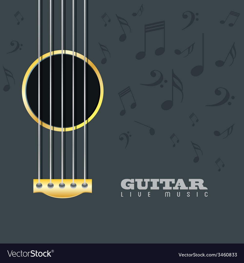 Guitar live music poster background vector | Price: 1 Credit (USD $1)