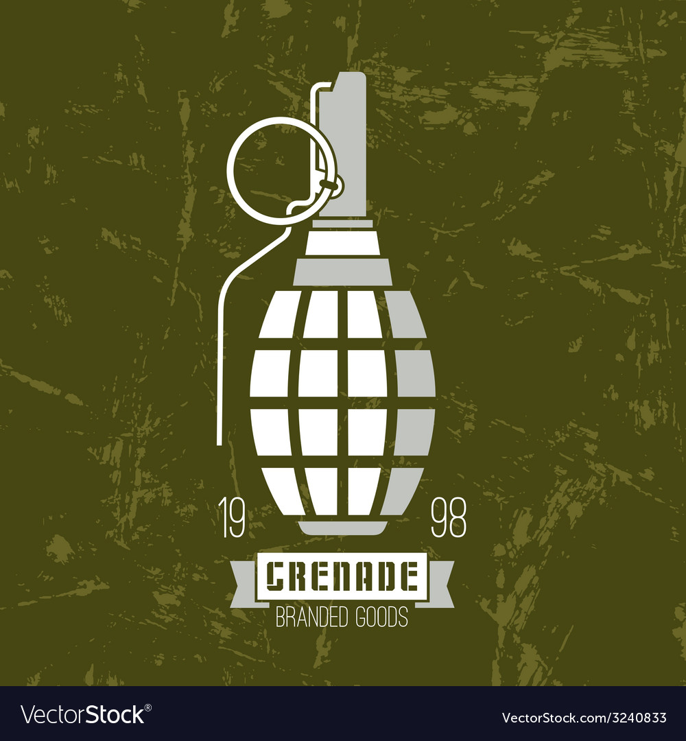 Hand grenade icon vector | Price: 1 Credit (USD $1)