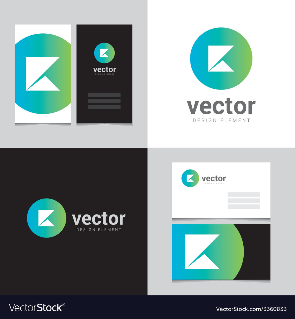 Logo design element with two business cards - 11 vector | Price: 1 Credit (USD $1)