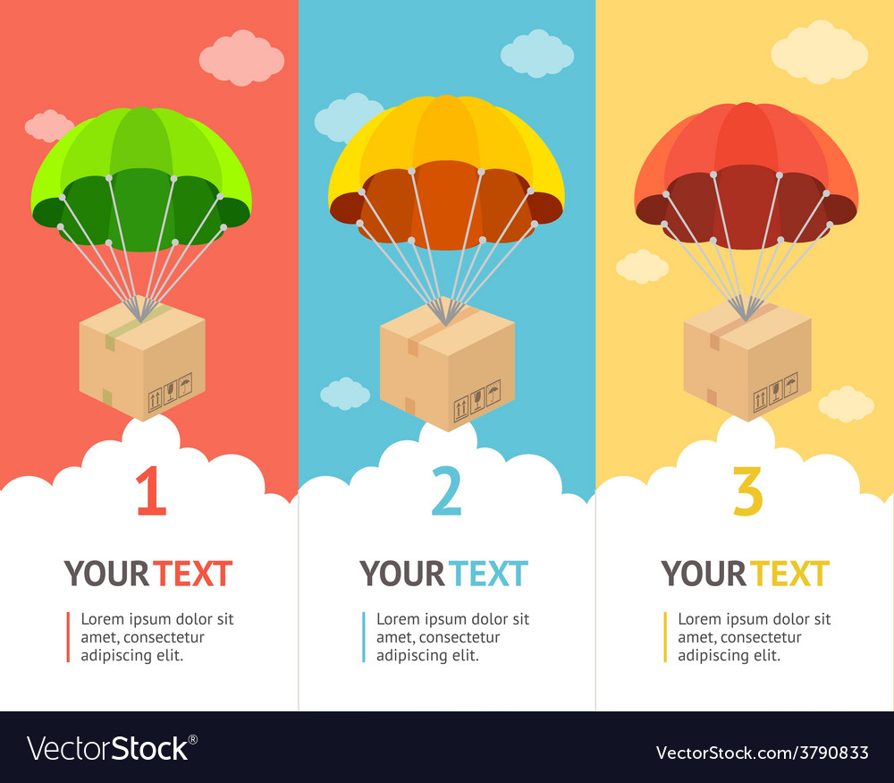 Parachute banner vector | Price: 1 Credit (USD $1)
