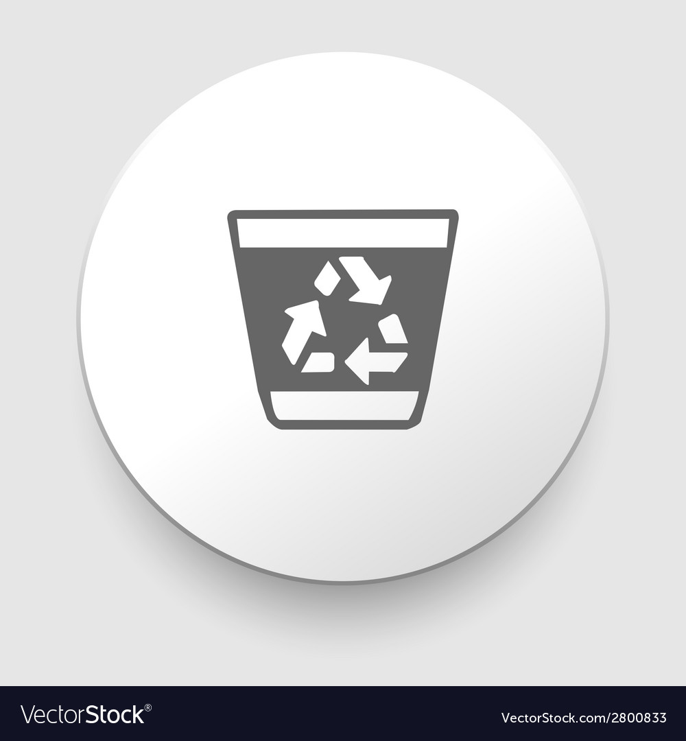 Recycle trash can vector | Price: 1 Credit (USD $1)