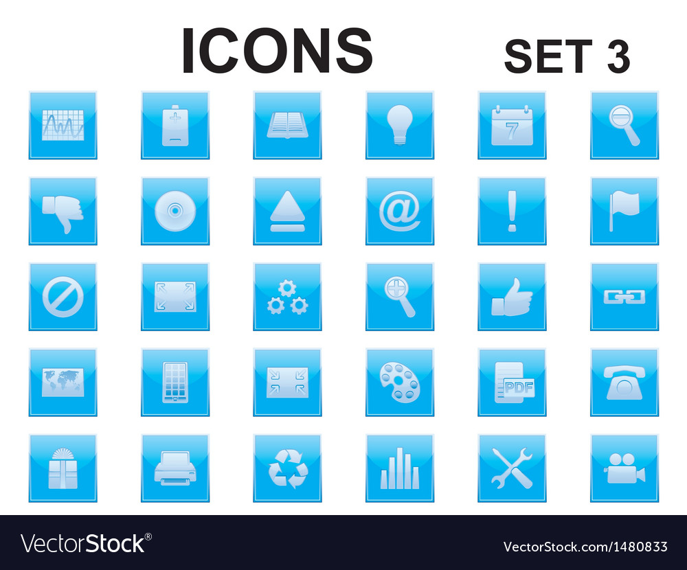 Set of square icons vector | Price: 1 Credit (USD $1)