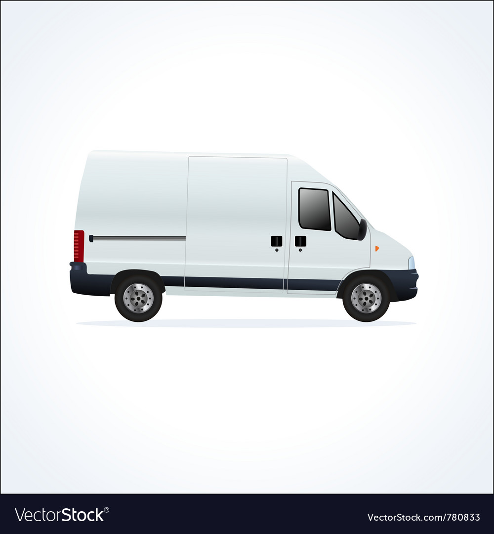 White delivery truck vector | Price: 3 Credit (USD $3)