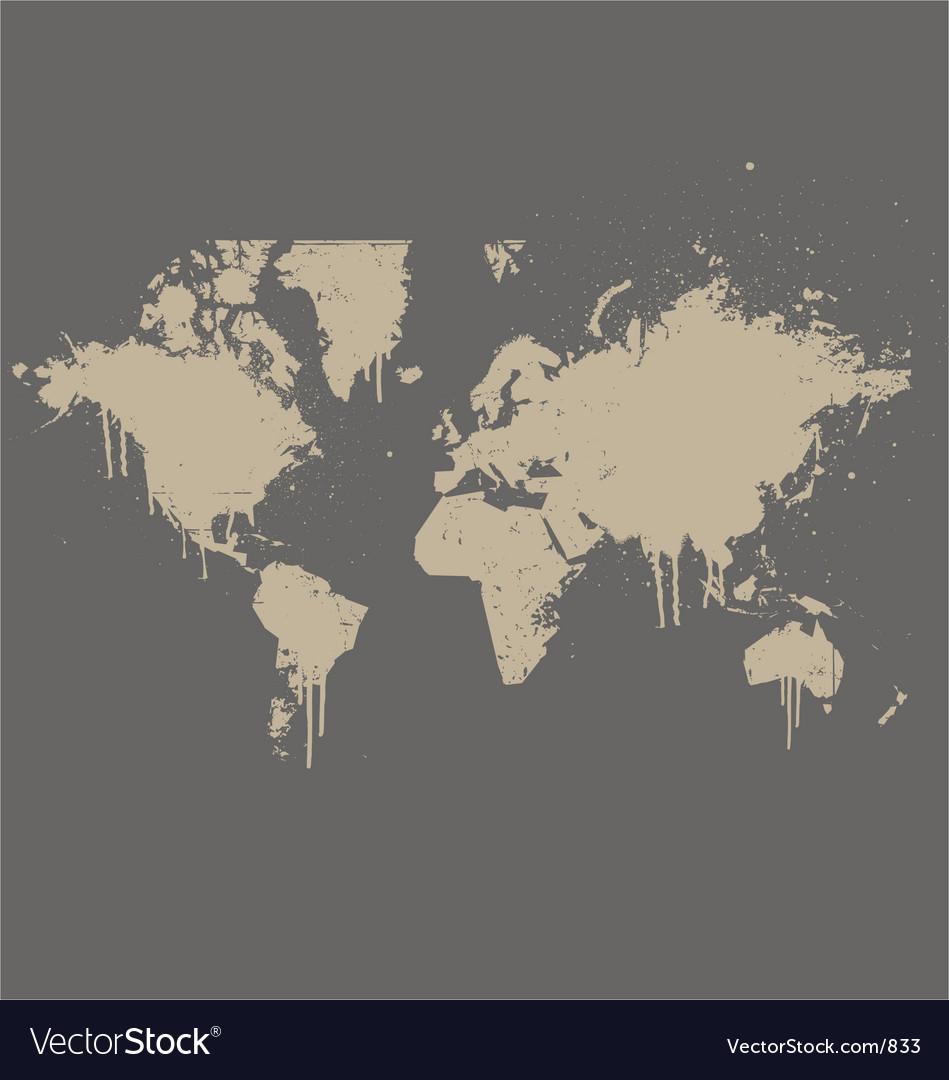 World map grunge spray version vector | Price: 1 Credit (USD $1)