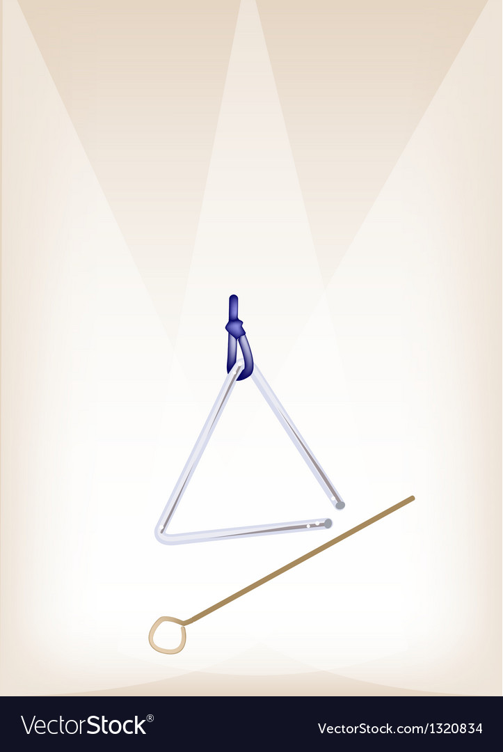 A musical triangle on brown stage background vector | Price: 1 Credit (USD $1)