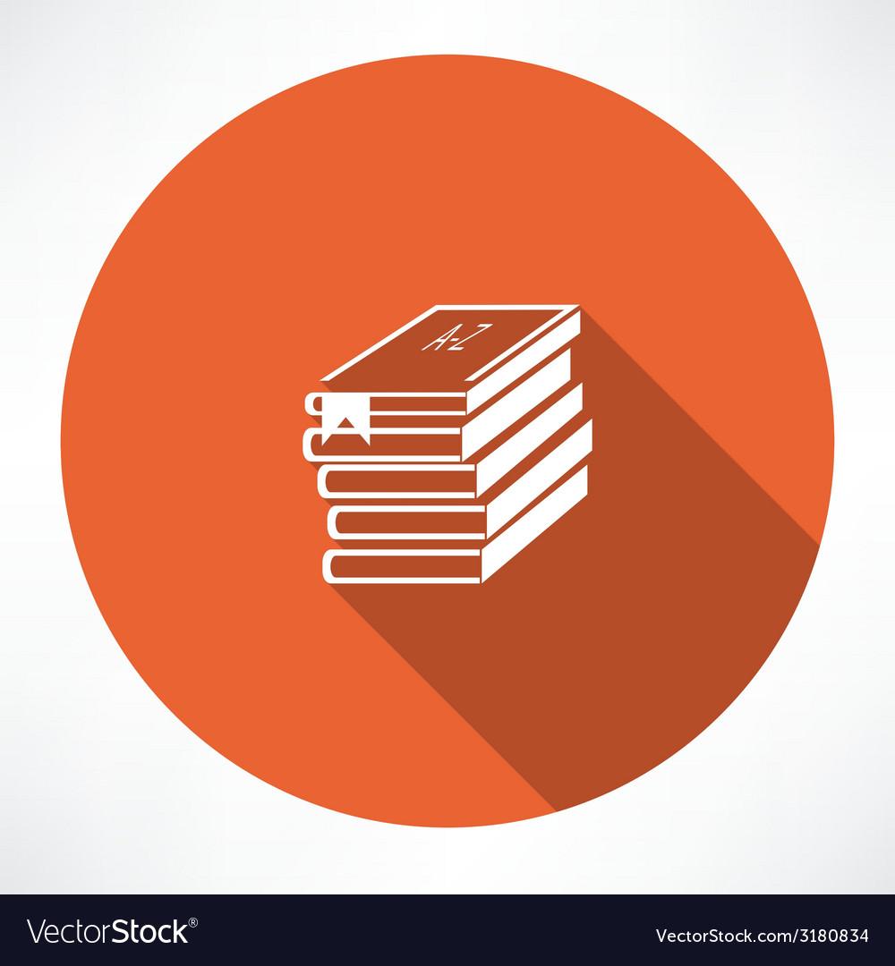 Abc books icon vector | Price: 1 Credit (USD $1)