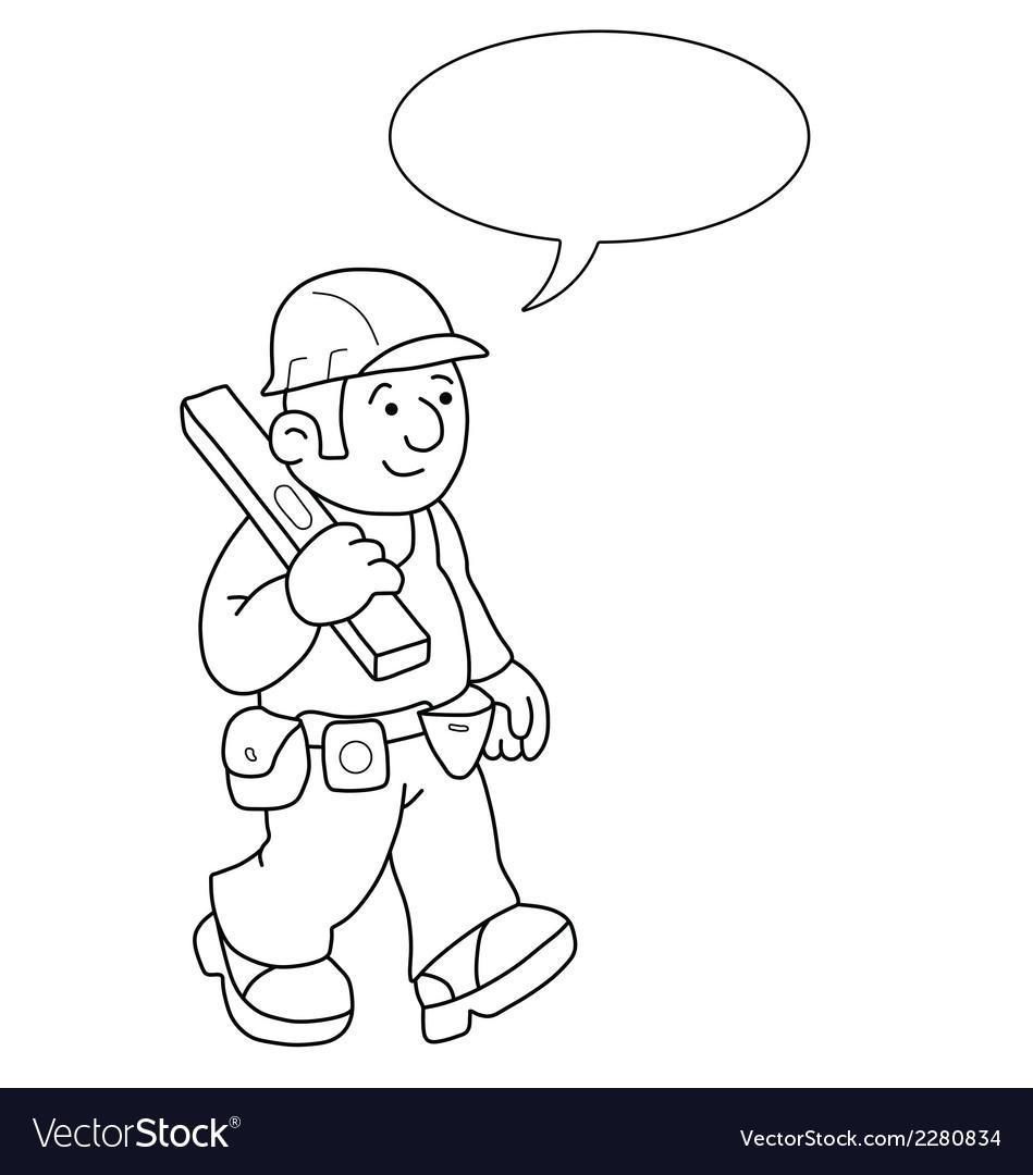 Cartoon builder vector | Price: 1 Credit (USD $1)