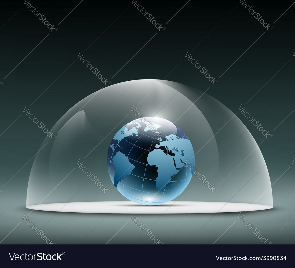 Earth under the dome vector | Price: 1 Credit (USD $1)