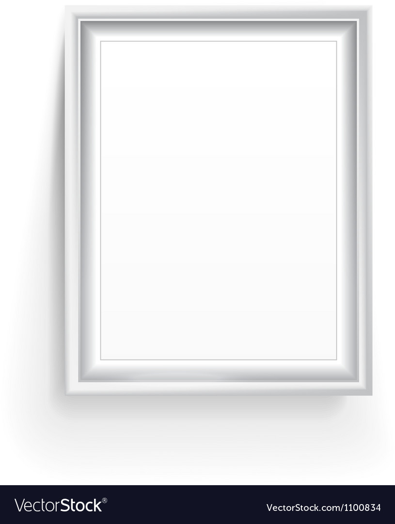 Empty picture frame isolated on white vector | Price: 1 Credit (USD $1)