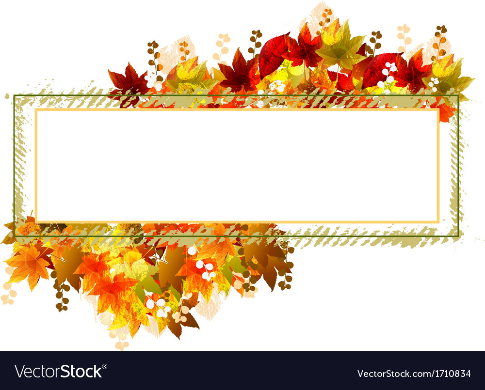 Fall leaves frame vector | Price: 1 Credit (USD $1)