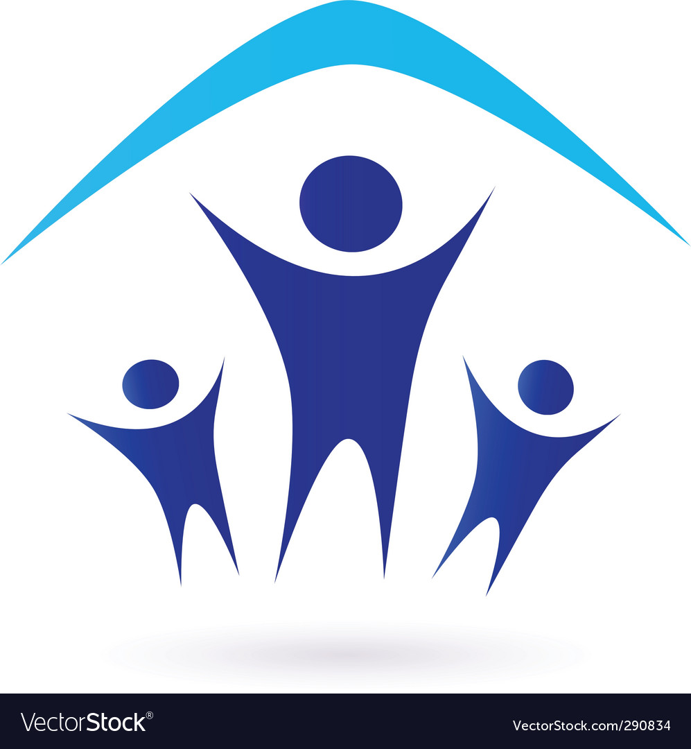 Family and house roof icon vector | Price: 1 Credit (USD $1)