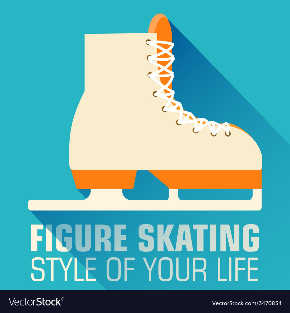 Flat sport skating background concept desig vector | Price: 1 Credit (USD $1)