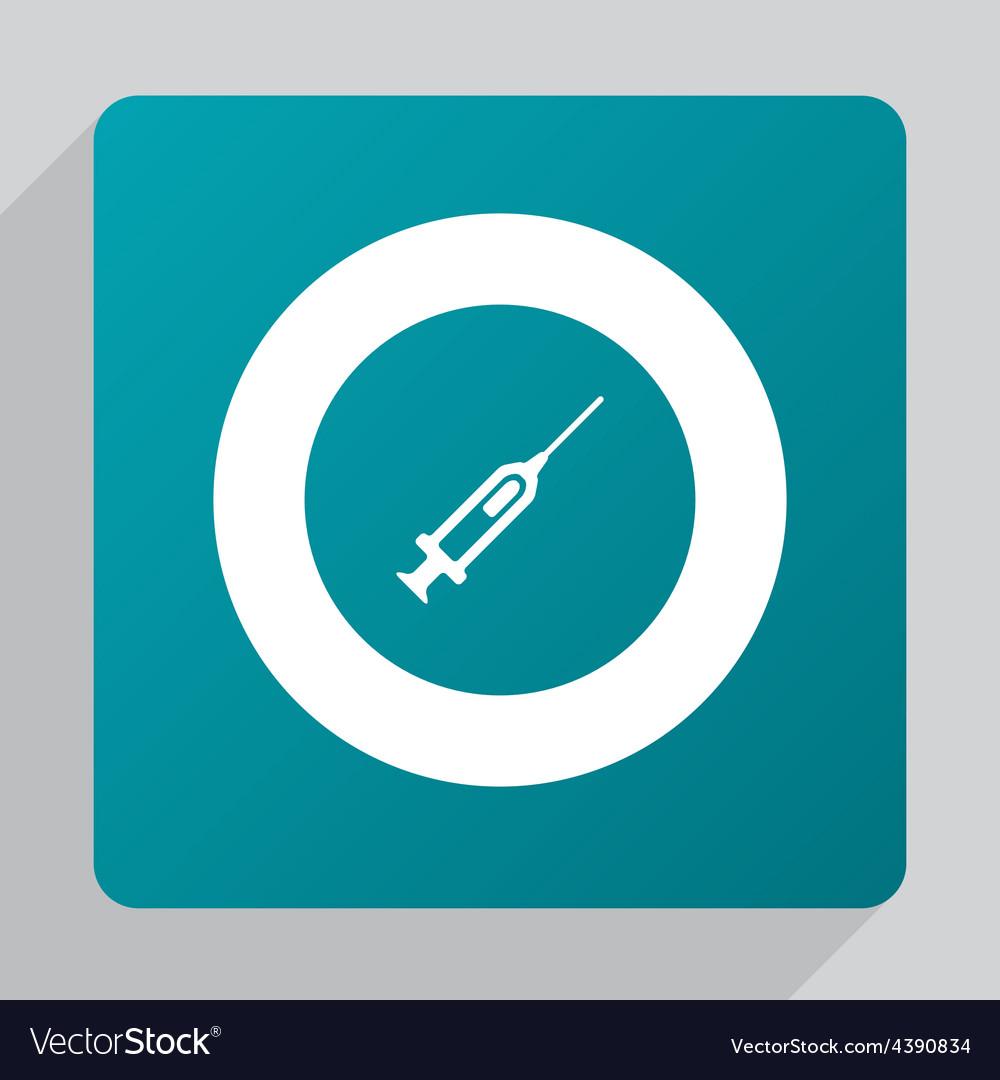 Flat syringe icon vector | Price: 1 Credit (USD $1)