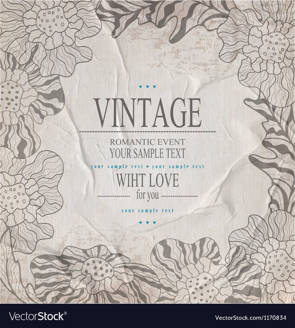 Grey congratulation vintage background vector | Price: 1 Credit (USD $1)