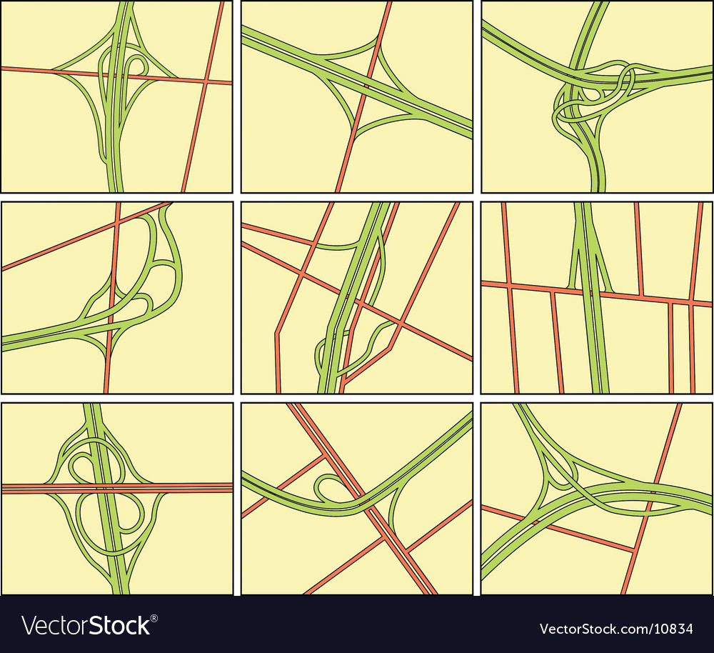 Intersections vector | Price: 1 Credit (USD $1)