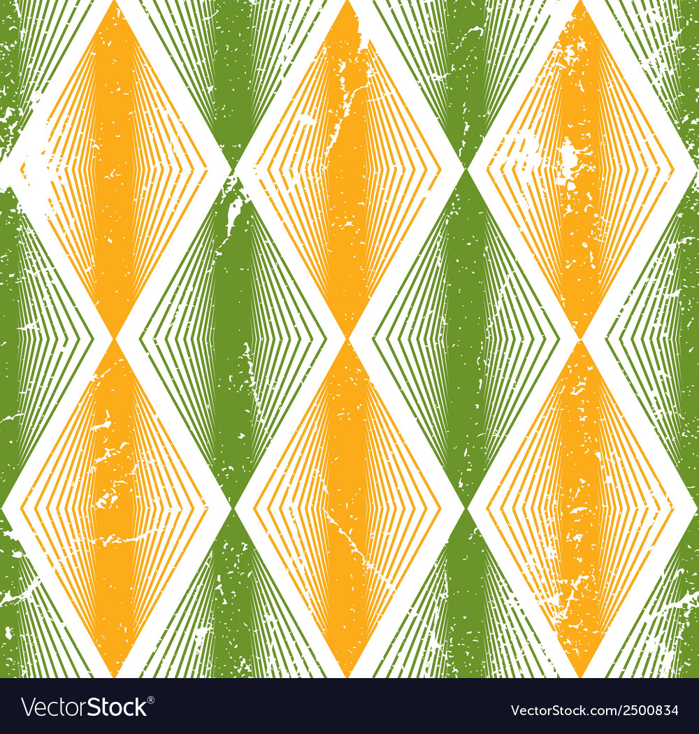 Rhombus seamless pattern abstract geometric tiling vector | Price: 1 Credit (USD $1)
