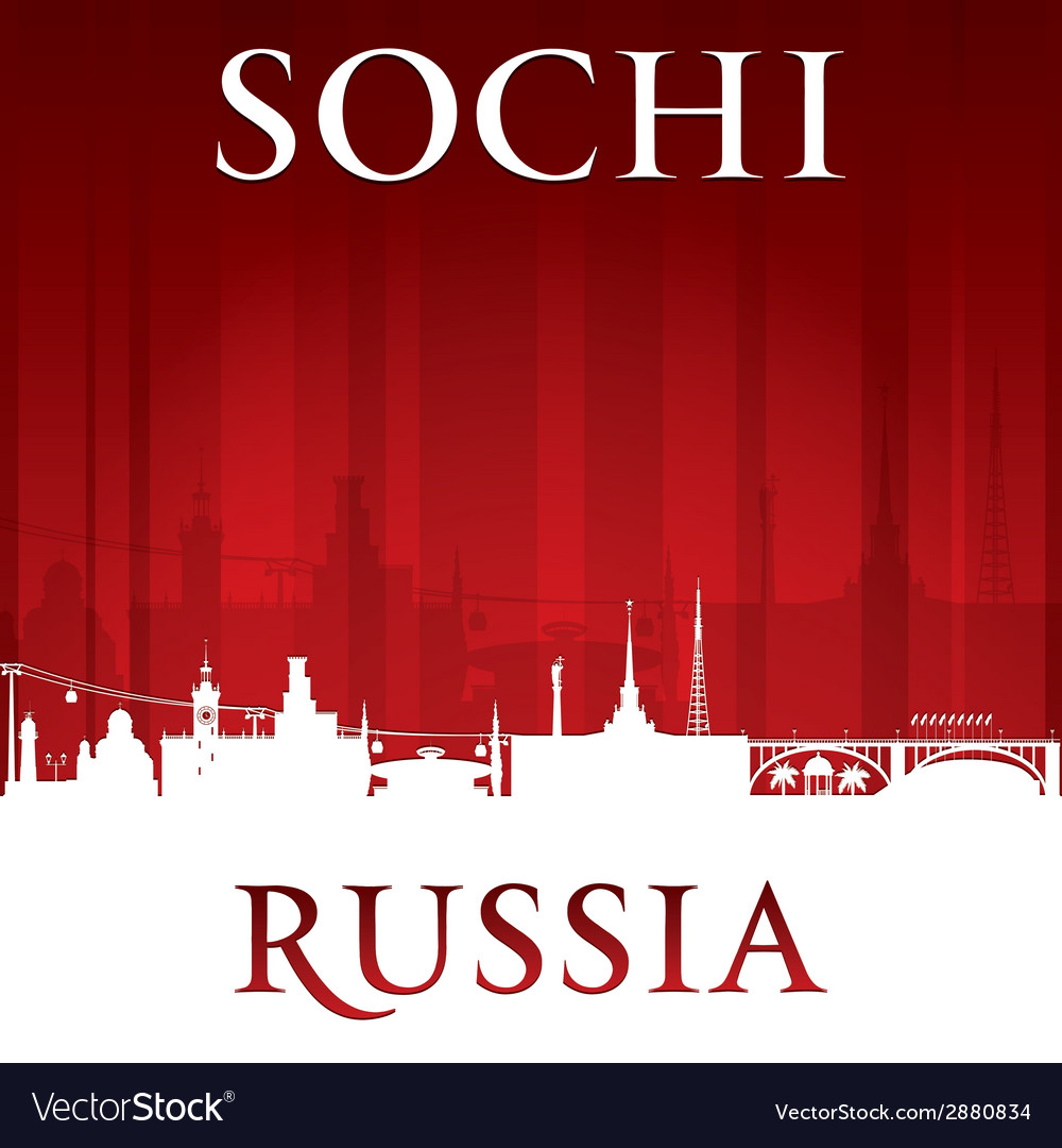 Sochi russia city skyline silhouette vector | Price: 1 Credit (USD $1)